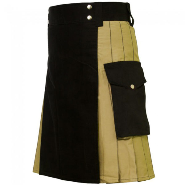 hybrid-kilt-khaki-and-black-right-side