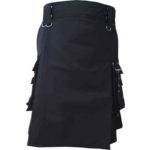 scottish-deluxe-utility-sports-traditional-black-kilt-front-1