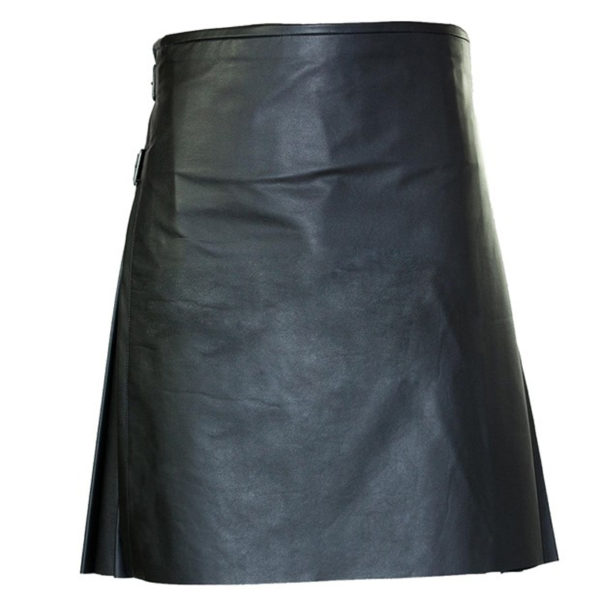 traditional-black-leather-kilt