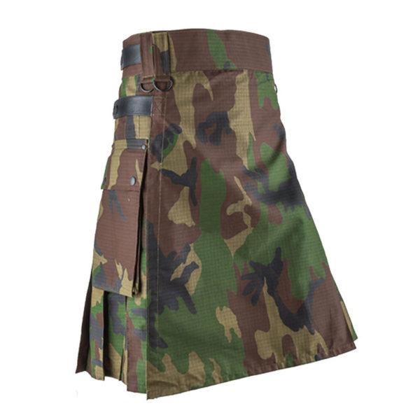 Woodland-Camouflage-Utility-Kilt-front-800×800
