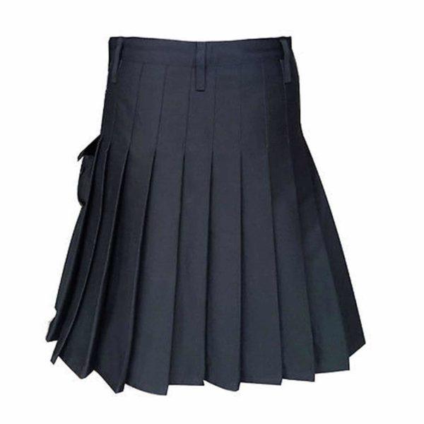 Black-Formal-Police-Utility-Kilt-back-1