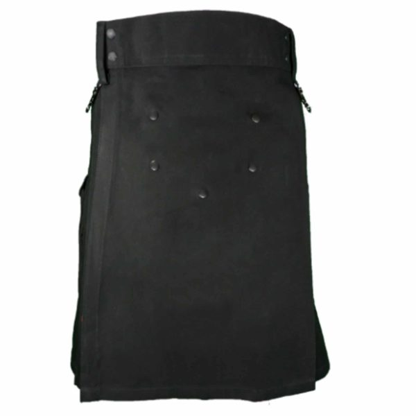 Wilderness-black-utility-kilt-side-front