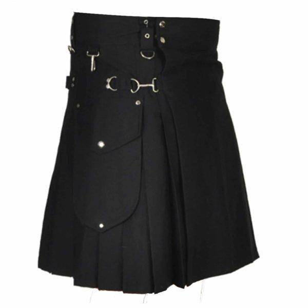 stylish-black-utility-kilt-front