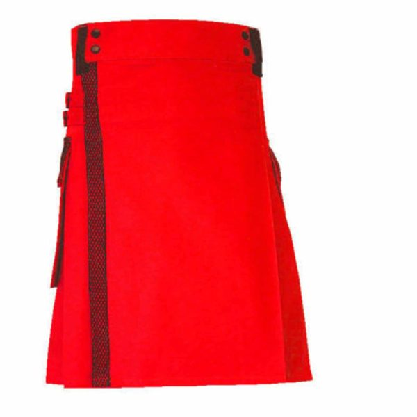 stylish-red-net-pocket-fashion-kilt-back