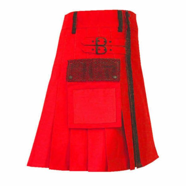 stylish-red-net-pocket-fashion-kilt-fronttilt