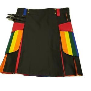 Gay Pride Rainbow Utility Kilt