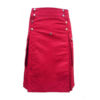 Red Utility Kilt For Active Men Made in 100% Cotton