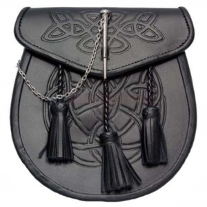 Celtic Embossed Leather Sporran