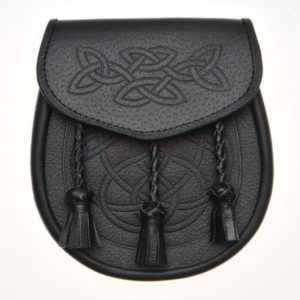 Celtic Knot Embossed Leather Sporran