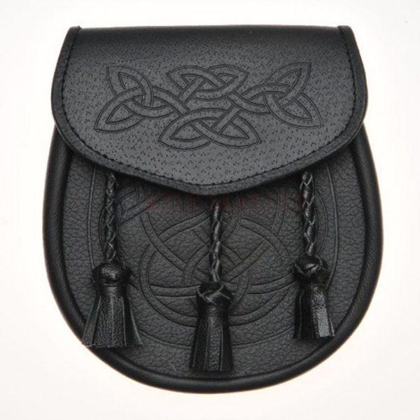 Celtic Knot Embossed Leather Sporran