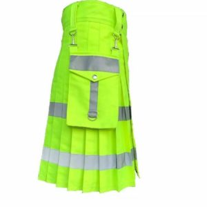 Florescent Kilt with Detachable Pockets all around reflector