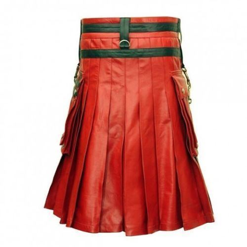 Gothic Mens Leather Kilt2