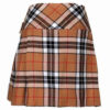 Ladies Knee Length Modern Tartan Pleated Kilt1