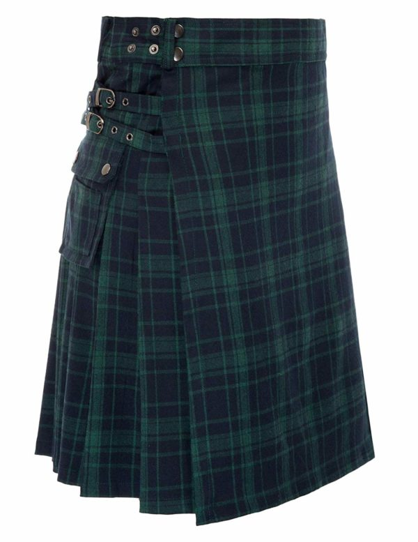 Mens tranditional Highland Scotish Kilt tartan utility kilt