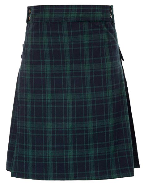 Mens tranditional Highland Scotish Kilt tartan utility kilt1