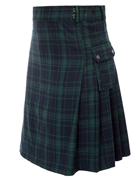Mens tranditional Highland Scotish Kilt tartan utility kilt2