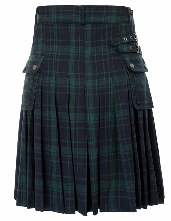 Mens tranditional Highland Scotish Kilt tartan utility kilt3