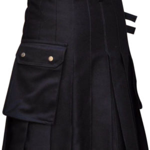 New Men's Black UtilityWeddig Kilt