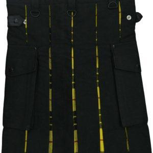 Scottish Hybrid Black & Mecleod of Lewis Tartan Kilt Men Handmade Utility Kilt