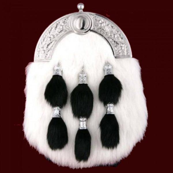 White Rabbit fur full dress kilt sporran
