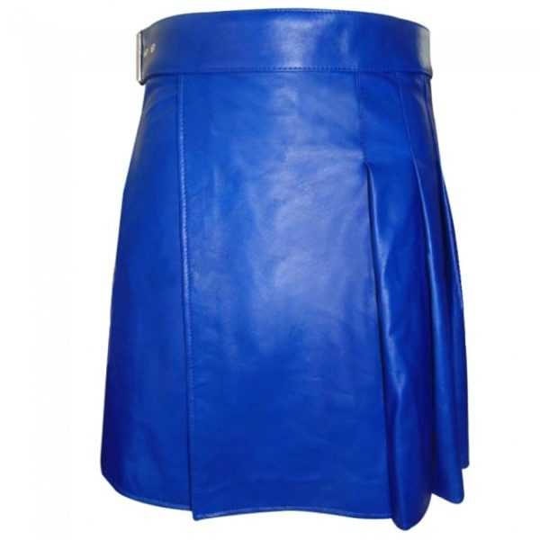Blue Leather kilt1