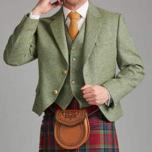 Green Lovat Tweed kilt jacket