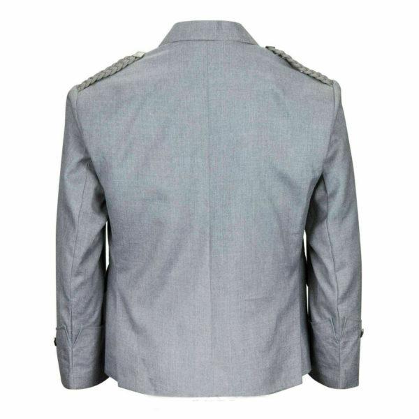 Grey Pipe Band Scottish Argyle kilt Jacket & WaistcoatVest1