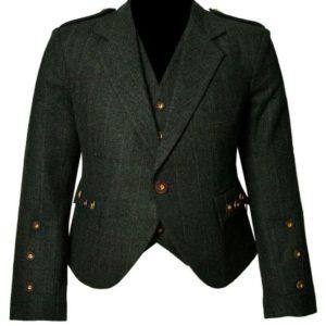 Trendy-Scottish-Tweed-Argyle-Kilt-Jacket-With-Waistcoat-Vest