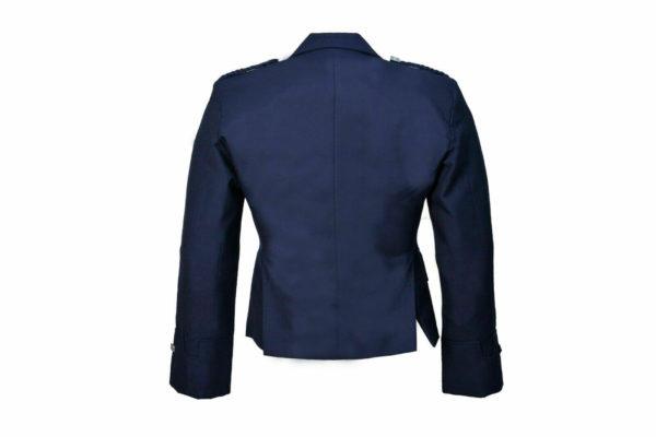 New Scottish Blue Wool Argyle Kilt Jacket With Waistcoat Vest