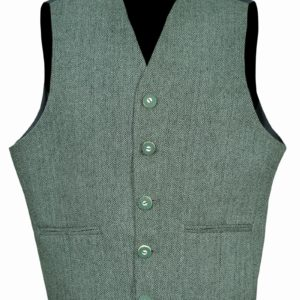 Lovat-Green-Tweed-Argyle-Kilt-Jacket-With-5-.Button-Vest