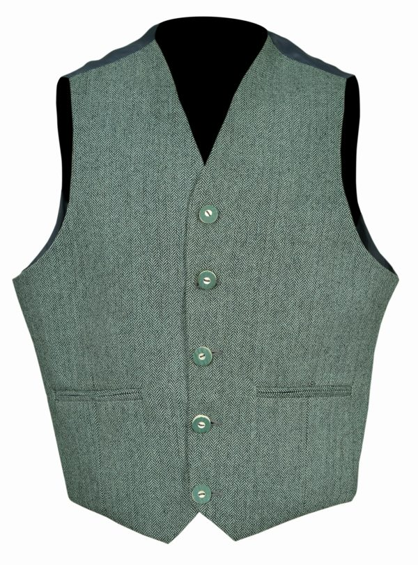 Lovat-Green-Tweed-Argyle-Kilt-Jacket-With-5-.Button-Vest