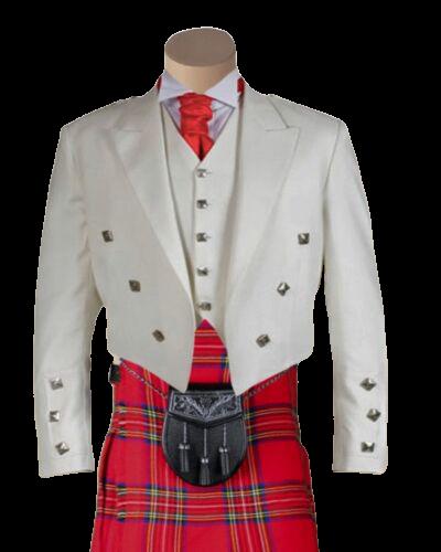White Prince Charlie Jacket & Waistcoat
