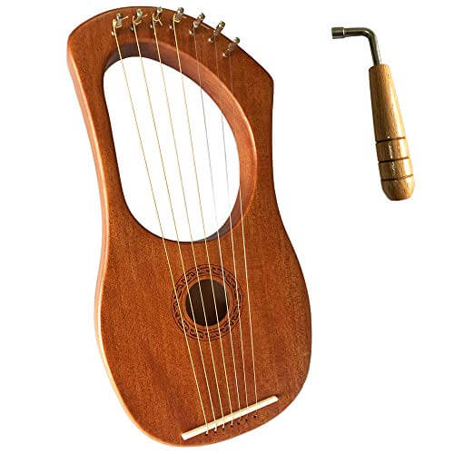 Lyre Harp Orchestral Strings Instrument with Tuning Wrench