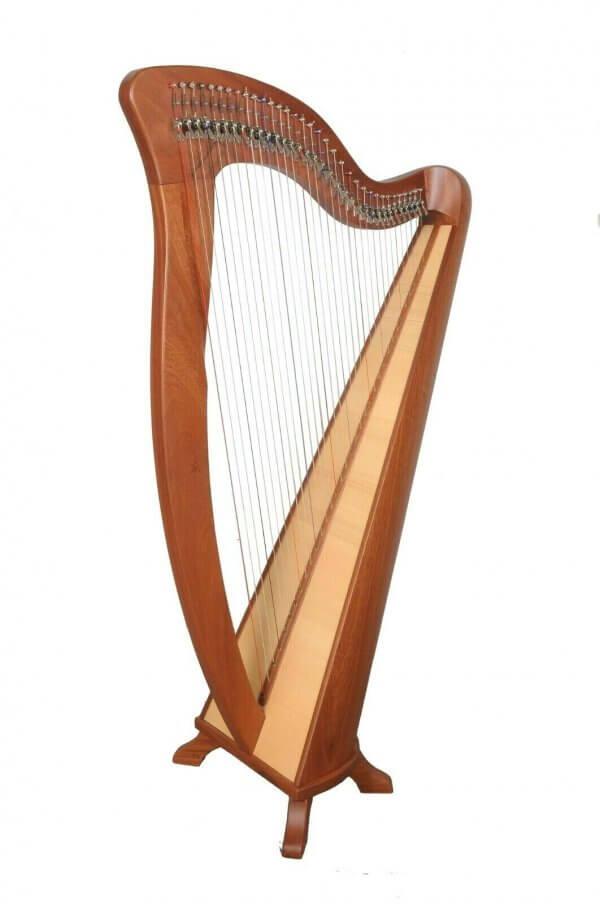 34 String McHugh harp By Muzikkon, Irish Lever harp, Celtic Irish Harp