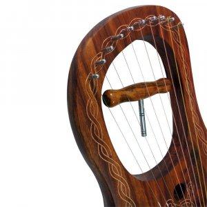 Rosewood Lyre Harp 10 Strings