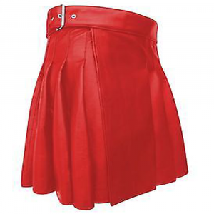 2020 New Kiltish Christmas Red Women Leather utility Kilt
