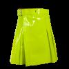 2020 New leather Lime Green utility kilts women Scottish kilt2020 New leather Lime Green utility kilts women Scottish kilt