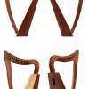 15 String Lever Harp Small Mini Harp Nylon Strings with Free Bag & Tuning Tool