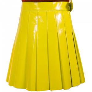2020 New Christmas Yellow Kiltish Women Leather utility Kilt