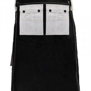Scottish Men 100% Cotton Carhartt Work kilt Black With White Pockets