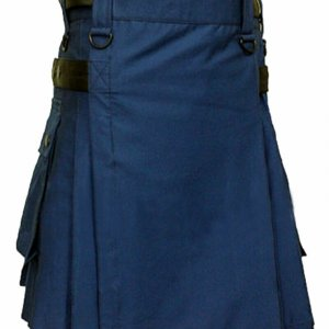 2020 Men Scottish Fashion Utility kilt Made to Measure 100% Cotton