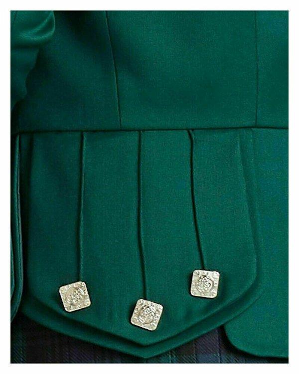 Prince Charlie Green Kilt Jacket Scottish Highland Custom Doublet Piper Jackets