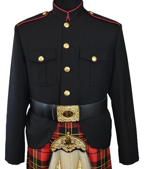 Class A Honor Guard Kilt Jacket (Black/Red)