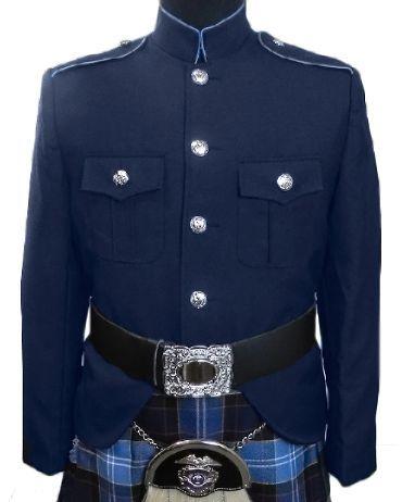 Class A Honor Guard Kilt Jacket (Navy/Medium Blue)
