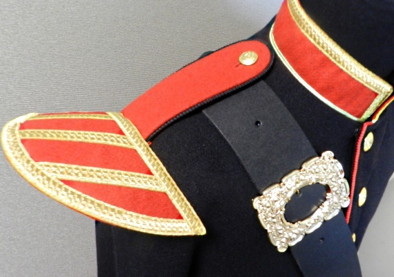 Officers Melton Doublet (Black & Red)