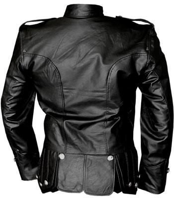 100 % Genuine Black Leather Doublet Jacket