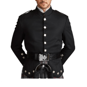 Black Kenmore Doublet Evening Jacket