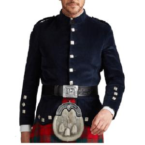 Kenmore Doublet in Black Velvet Evening Jacket