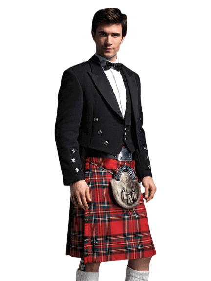 Prince Charlie Jacket with 3 Button Vest kilt outfits