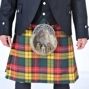 Scottish 8 Yard Buchanan Tartan Kilt Outfit